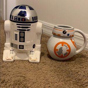 R2D2 Star Wars Coin Bank & BB-8 Mug